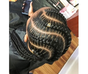 curls, weave, and box braids image