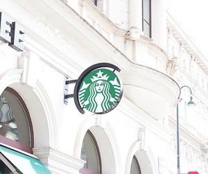 starbucks, coffee, and white image