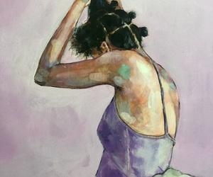 beautiful, girl, and art image