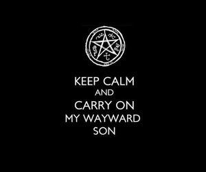 supernatural, spn, and keep calm image