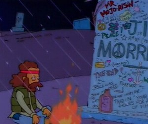 Jim Morrison, the simpsons, and grunge image