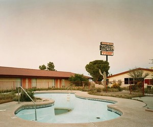 motel and pool image
