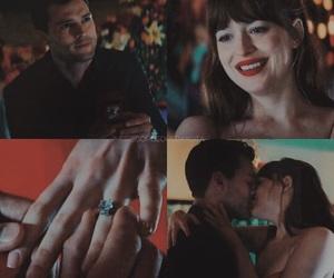 couple, engaged, and movie image