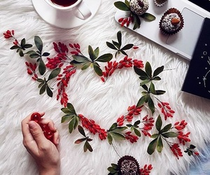coffee, heart, and nature image