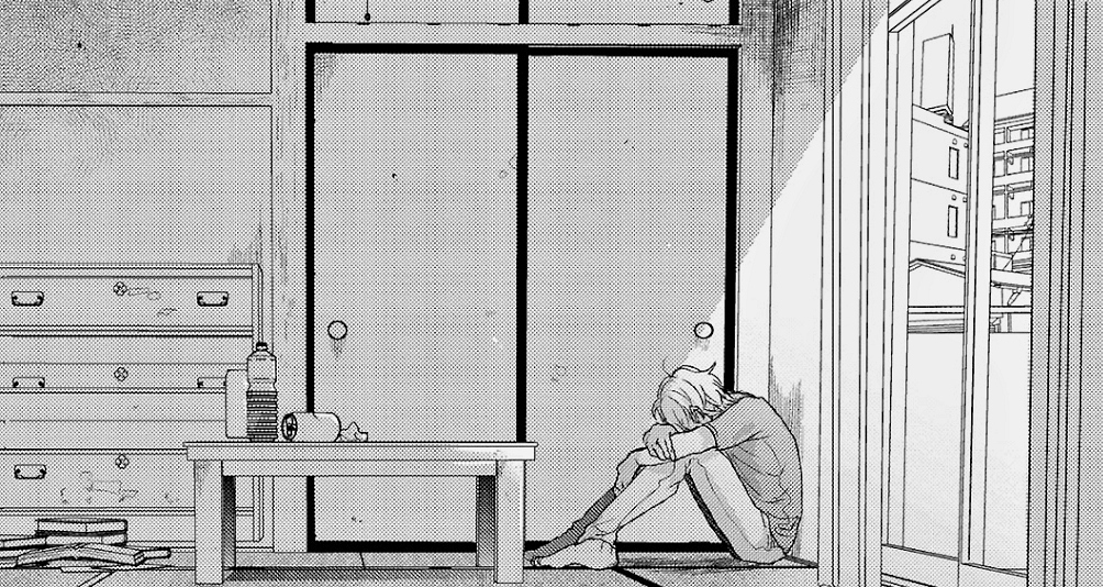 alone, anime, and black and white image