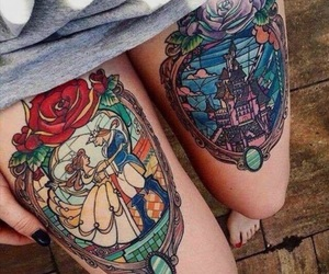 tattoo, disney, and beauty and the beast image