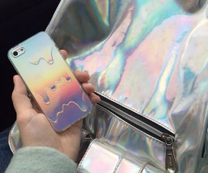 tumblr, iphone, and holographic image