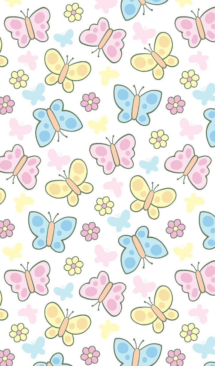 Art Background Butterfly Cartoon Colorful Cute Art