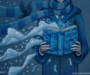 harry potter, ravenclaw, and blue image