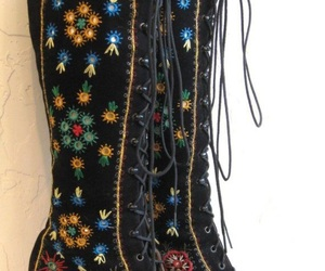 adorned, black, and boots image