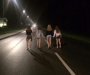 girls, Lithuania, and night image