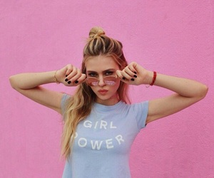 girl, girl power, and pink image