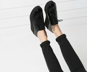 black, shoes, and fashion image