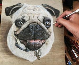 dibujo, arte, and perro image