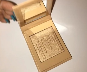 highlighter, makeup, and gold image