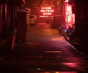 red, neon, and aesthetic image