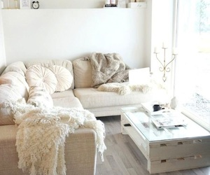 home, white, and room image