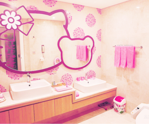 bathroom, hello kitty, and kawaii image