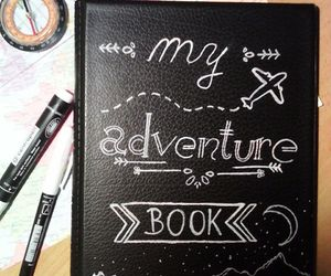 adventure, notebook, and adventurebook image