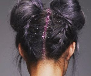 glitter, girl, and hair image