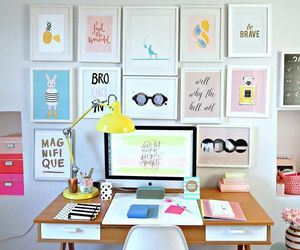 color, picture frames, and gallery wall image