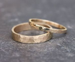 wedding and hammered gold image