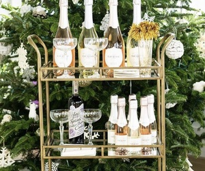 alcohol, champagne, and rose image