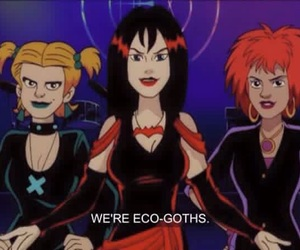 goth and scooby doo image