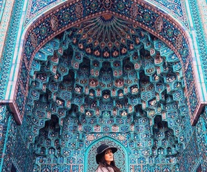 blue mosque, travel, and architecture image