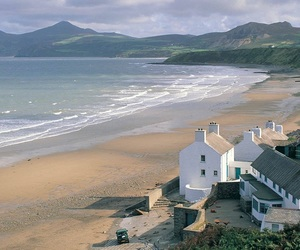 beach, house, and life image