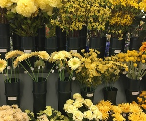 aesthetic, fake flowers, and yellow image