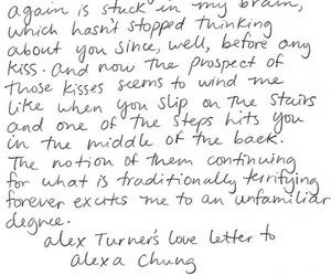 love, alex turner, and alexa chung image