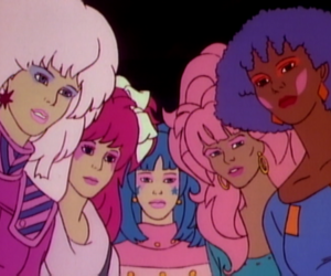 jem and the holograms, 80s, and cartoon image