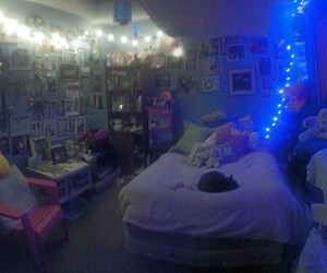 bedroom, cool room, and fairy lights image