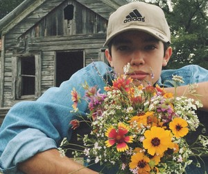 boy, flowers, and aesthetic image