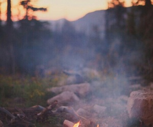 fire, forest, and wanderlust image