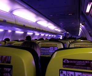 airplane, light, and people image