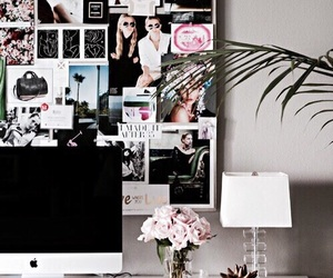 apple, room, and desk image