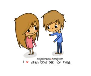 hug, couple, and girl image
