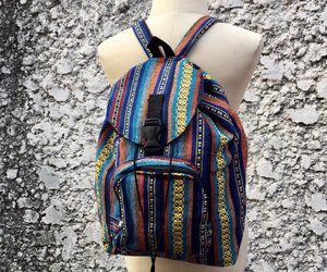 aztec, hippie, and tribal backpack image