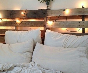 lights, bedroom, and home image