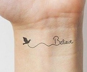 believe, little tattoos, and tattoo image