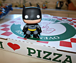 batman, pizza, and photography image