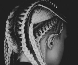 aesthetic, braids, and flawless image