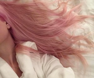 hair, pale, and pink image