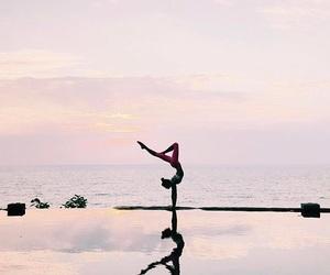 yoga, sky, and summer image
