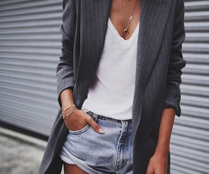 blazer, denim, and minimalist image