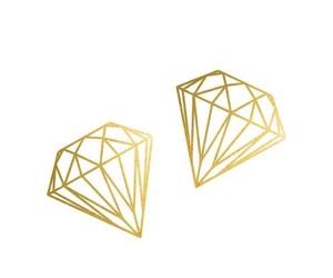 diamond, wallpaper, and gold image