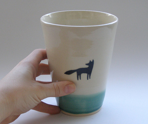 black and white, cup, and graphic image