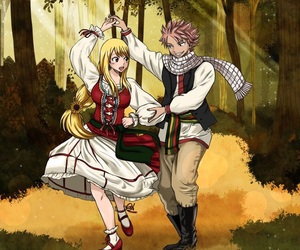 fairy tail, anime couples, and lucy heartfilia image
